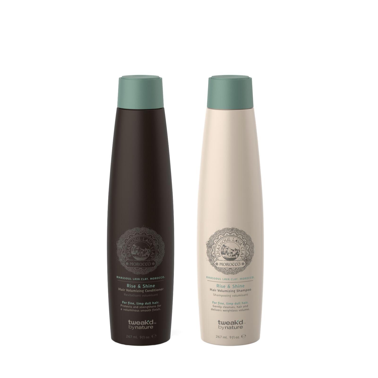 Tweakd Rhassoul Rise Amp Shine Volumising Shampoo Amp Conditioner Set 267ml QVC UK