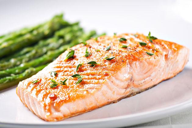 Alaskan salmon dish