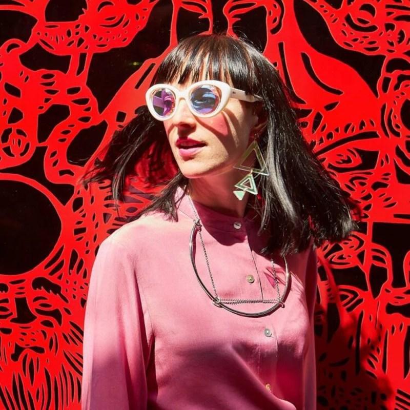 A fashion photo of Marie Geneviève Cyr.