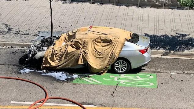 Explosion d'un véhicule à Kitchener, un mort