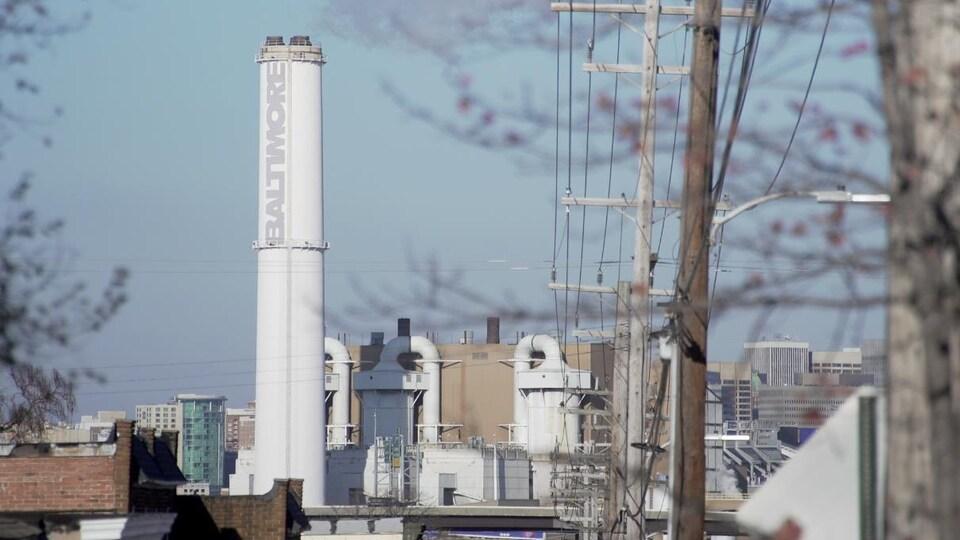 Une usine d'incinération de déchets à Baltimore.