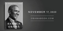 """A Promised Land,"" First Volume of Barack Obama's Memoir, to be Released November 17"