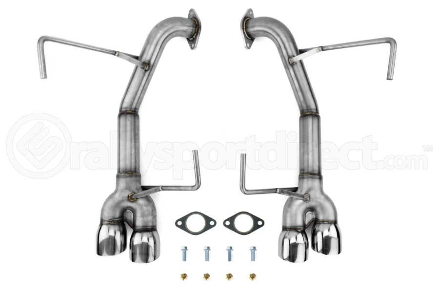 nameless performance muffler delete double wall polished tips