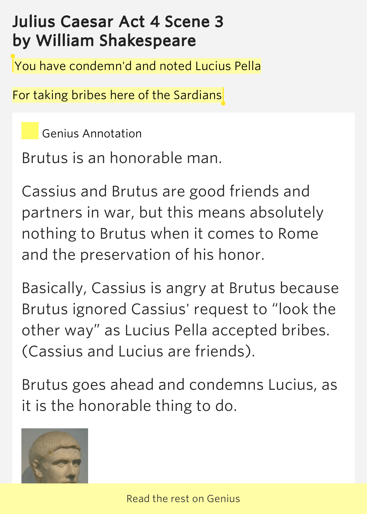 You Have Condemn D And Noted Lucius Julius Caesar Act
