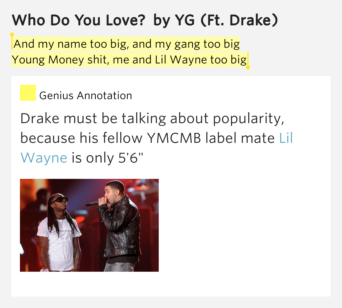 Yg Ft Drake Who Do You Love