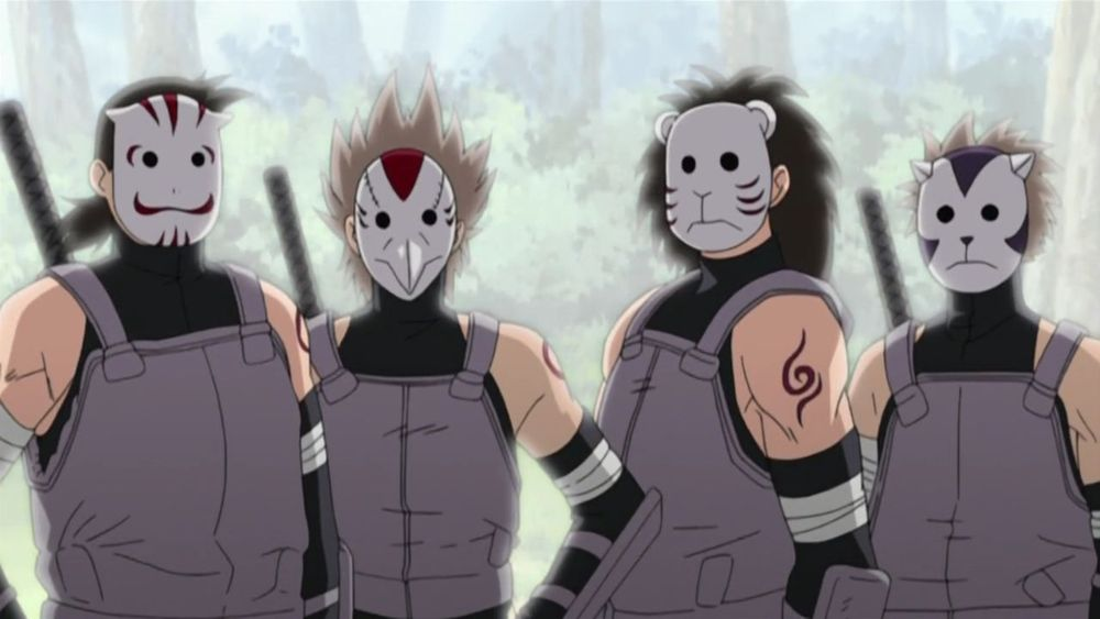 Gambar Topeng Anbu dari Anime Naruto