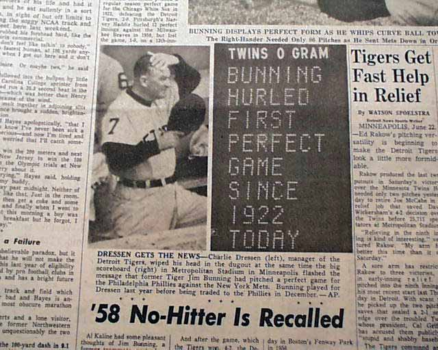 Image result for jim bunning PERFECT GAME