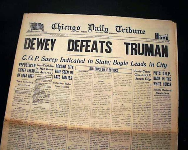 DEWEY DEFEATS TRUMAN Famous 20th Century Headline 1948 ...