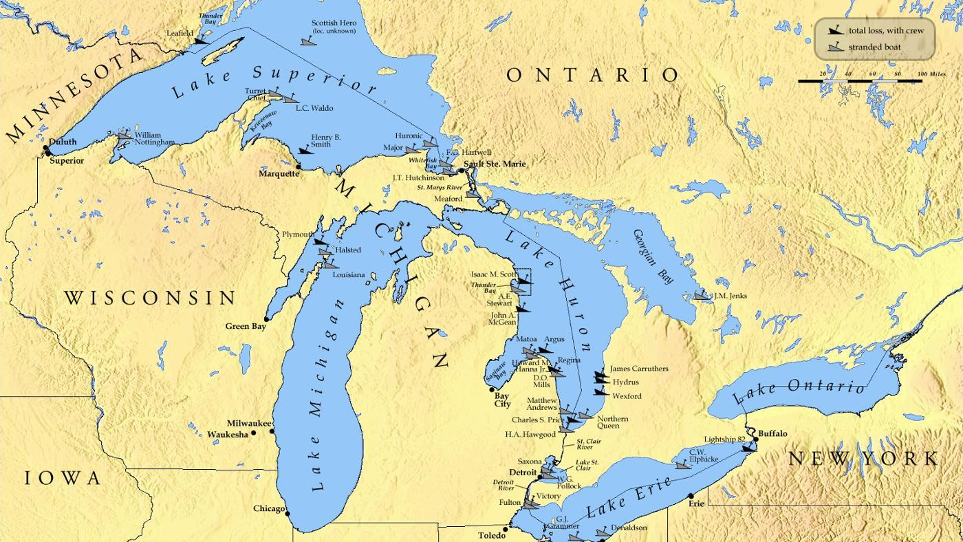 Which States Border The Great Lakes