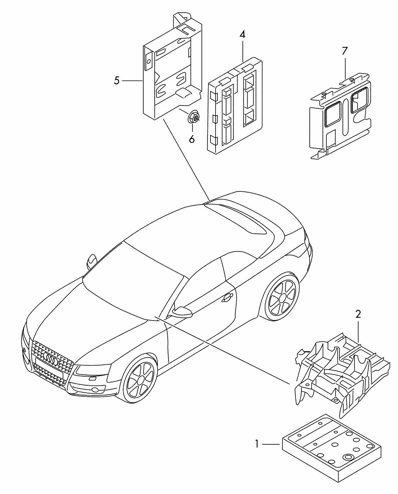 Oem for audi a4 body control module bcm 8t0 907 064 h bc rear unit 8t0907064h for sale