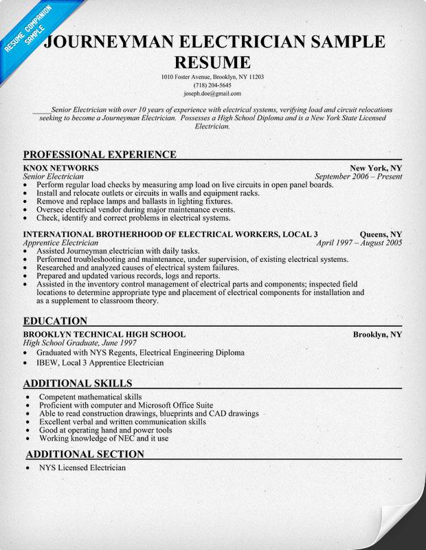 resume examples electrician asafon ggec co - Electrician Resume Sample Doc