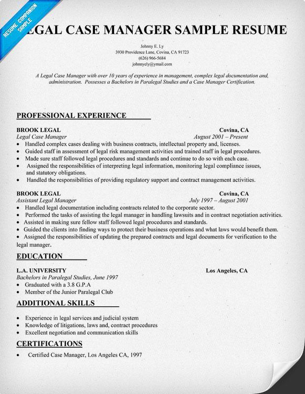 Case Manager Sample Resume Gse Bookbinder Co  Sample Case Manager Resume