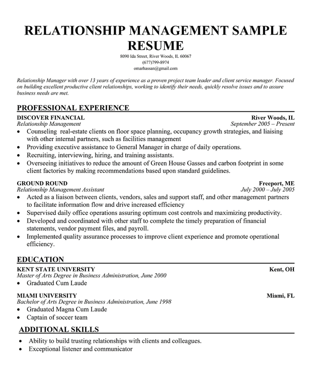 Account Manager Cover Letter Sle