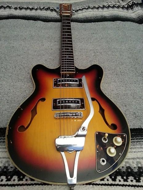 "Vintage Semi-Hollowbody Guitar 1960's ""Teisco"" | Reverb"