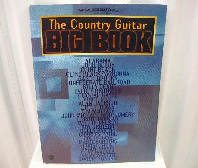 Big Book The Country Guitar Tab Tablature Sheet Music Song Book Songbook Warner