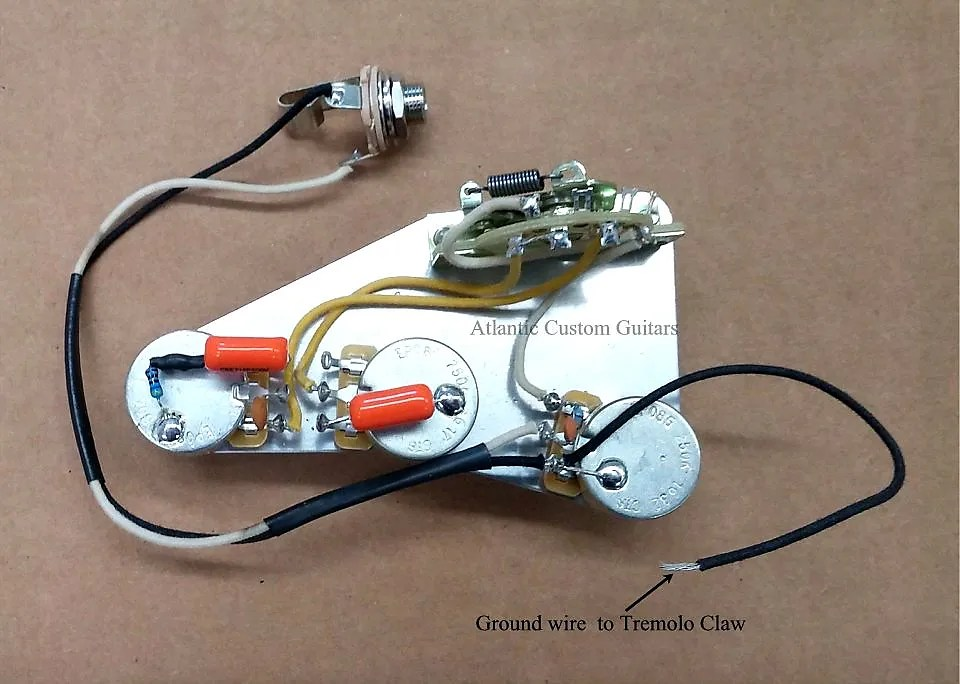 Stratocaster 5-Way Wiring Harness With CTS 275K Premium
