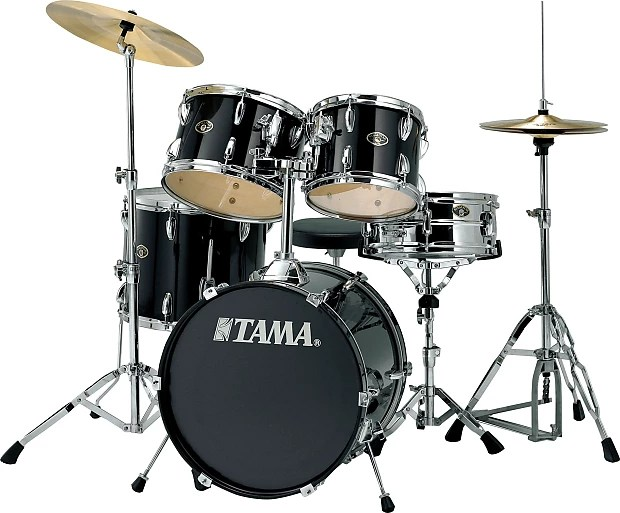 Tama Stagestar SG52KH5C 5 Pce Drum Kit w  Cymbals     Reverb Tama Stagestar SG52KH5C 5 Pce Drum Kit w  Cymbals   Throne   Black