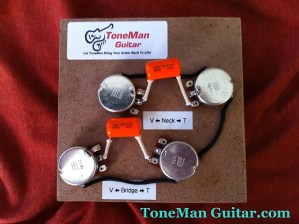 Les Paul 50's Wiring Harness  022uf Orange Drop Tone | Reverb