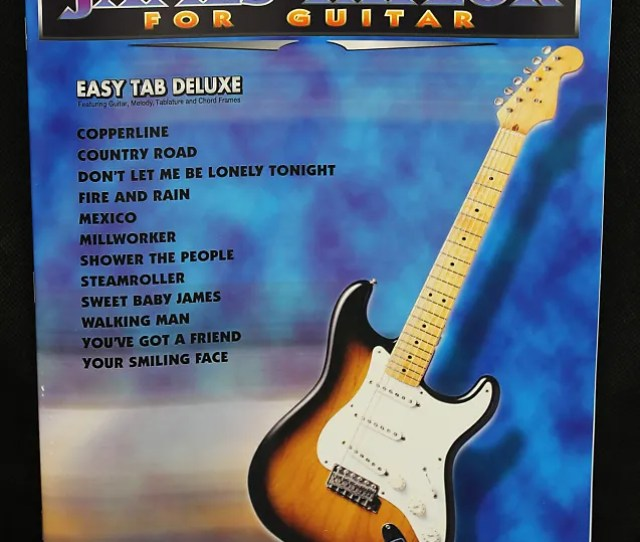 The New Best Of James Taylor For Guitar Easy Tab Deluxe Book
