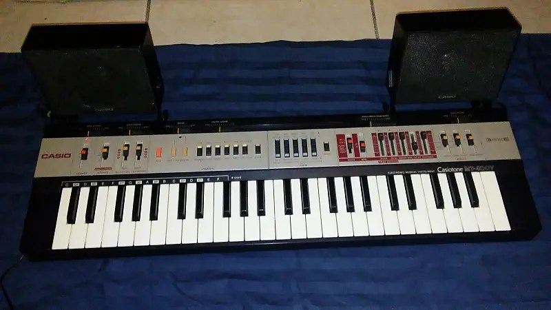 Casio Mt 400 V With Speakers 1980s As Is Works But Reverb