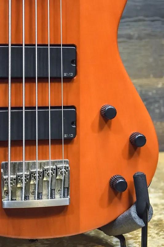 1999 Godin BG-V Bass EMG Active Pickups Trans Orange ...