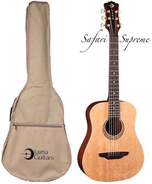 Luna Guitars Safari Supreme Acoustic Guitar, SAF SUPREME ...