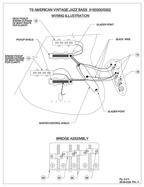 Fender Diagram Bass Control Jazz