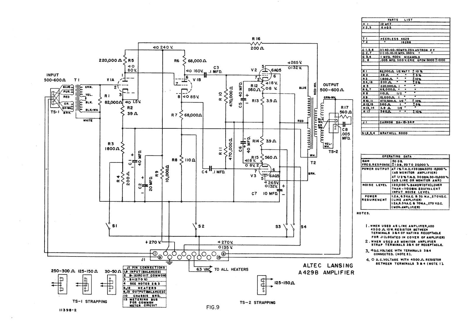 2 Rare S Altec 429b Tube Program Preamps Monitor