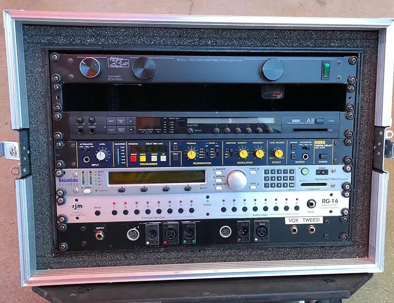 korg a3 guitar digital multi effects rack mount unit the edge late 1980 s black