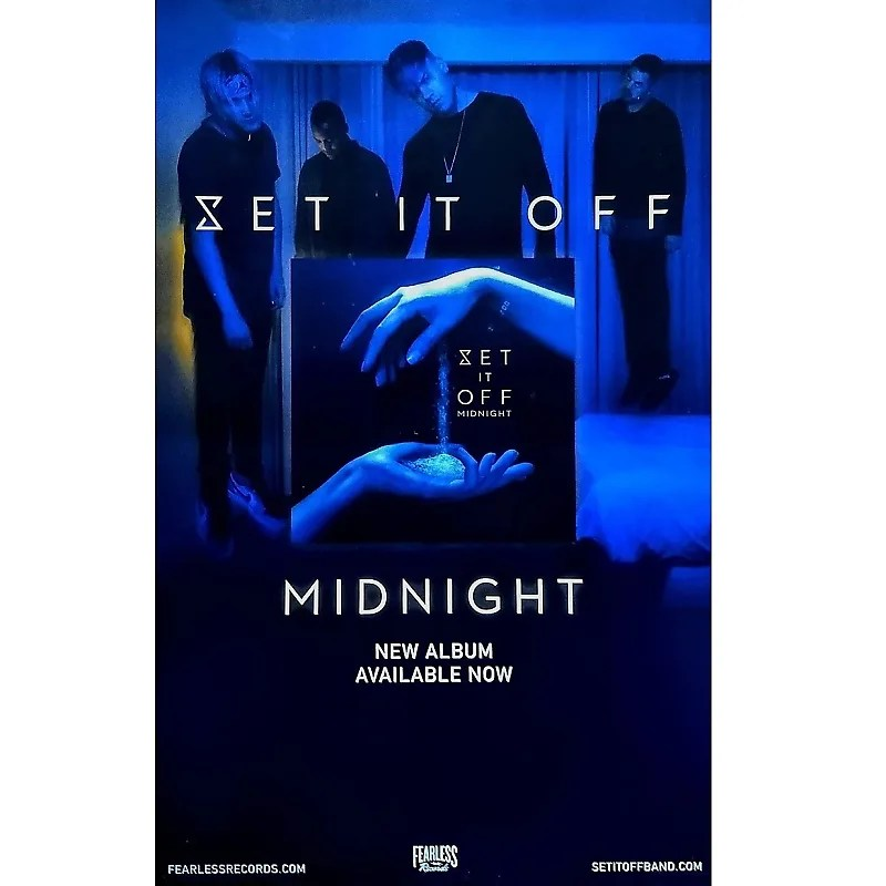 set it off midnight ltd ed rare tour poster my chemical romance panic at the disco all time low