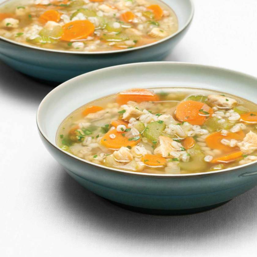 Image result for images soupe orge poulet