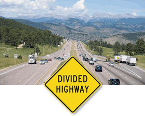 Divided Highway Signs | Divided Road