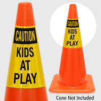 Caution Kids At Play Cone Collar Signs Sku S2 2416