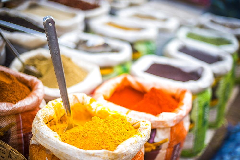 Amazing spices in Mapusa Spice Market, Goa