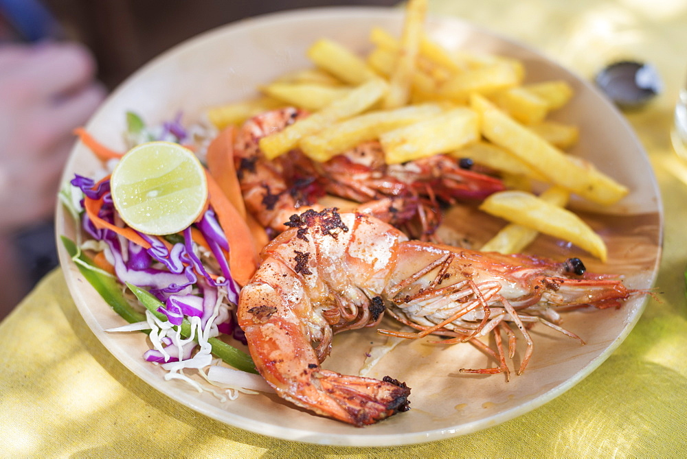 Giant king prawns at Galgibag Beach in Goa