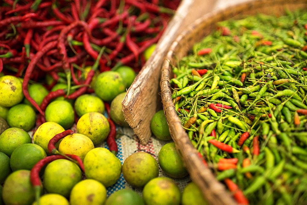 Stock photo: Chillies in market