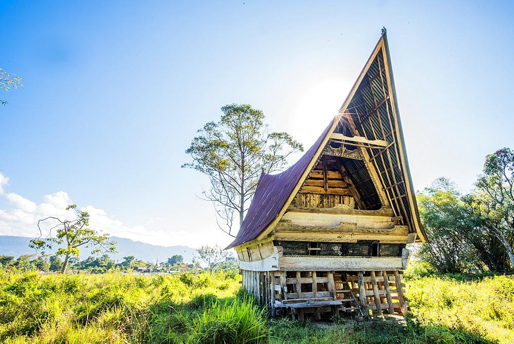 Stock travel photo: Traditional Batak House in Lake Toba, Sumatra