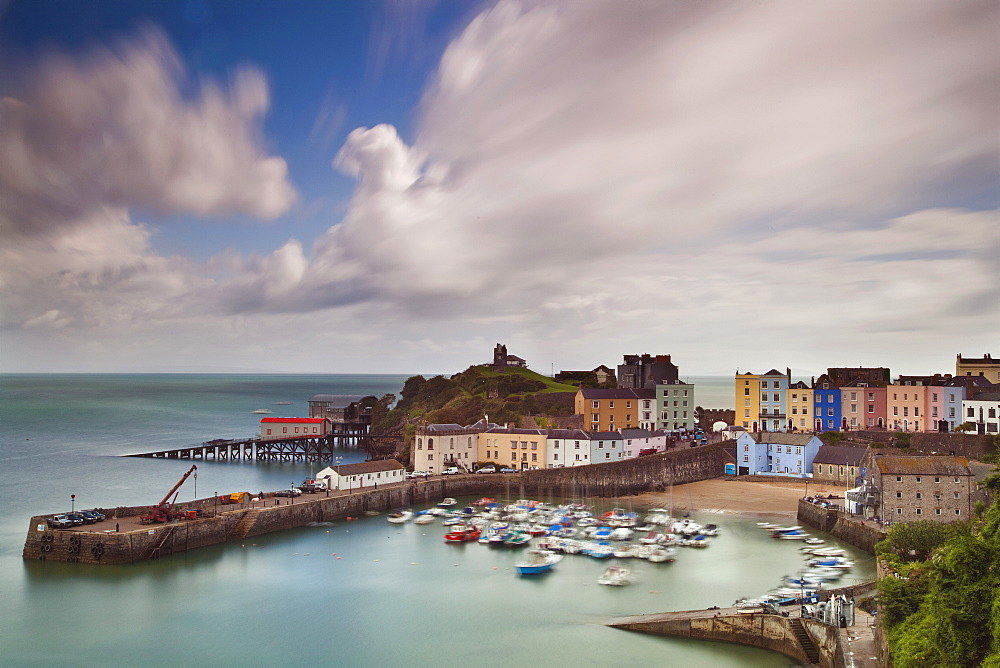 Stock photo of Tenby Harbour, Tenby, Pembrokeshire, Wales