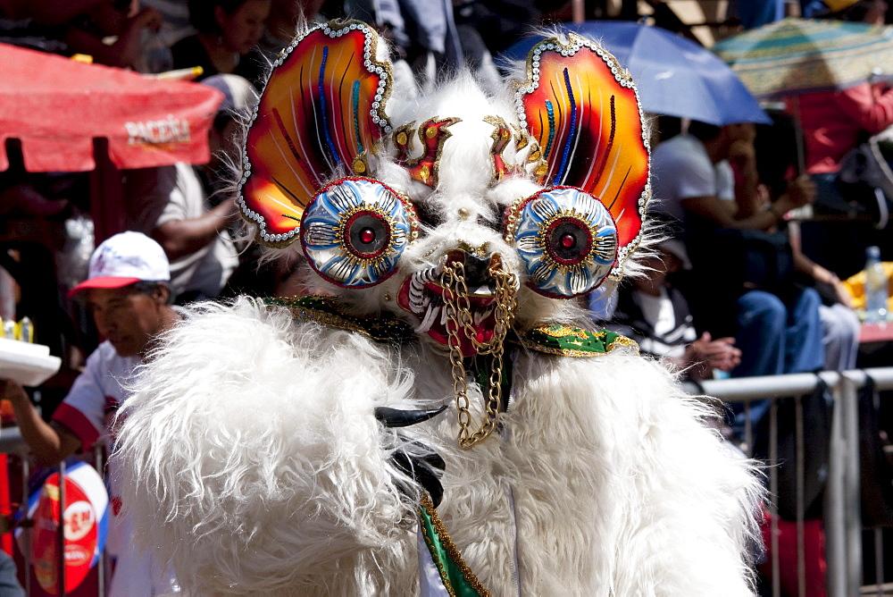 Stock travel photo: Diablada festival - elaborate devil mask
