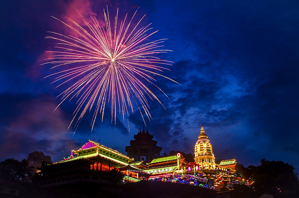 Fireworks for Chinese New Year in Penang, Malaysia