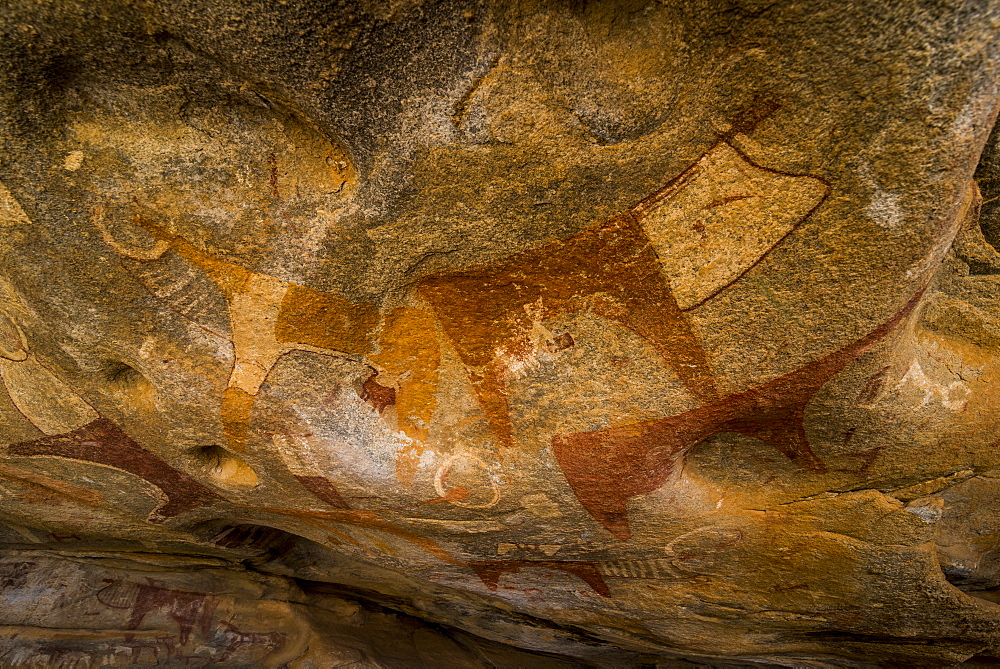 Stock photography of Cave paintings in Lass Geel caves, Somaliland, Africa