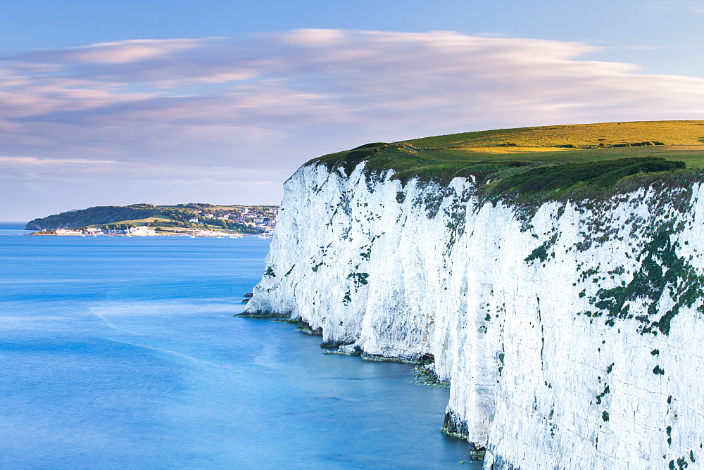 White Chalk cliffs near Old Harry Rocks in Dorset