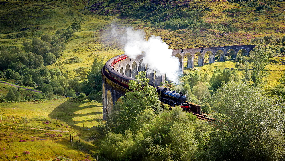 Harry Potter train over the Glenfinnan Viaduct image