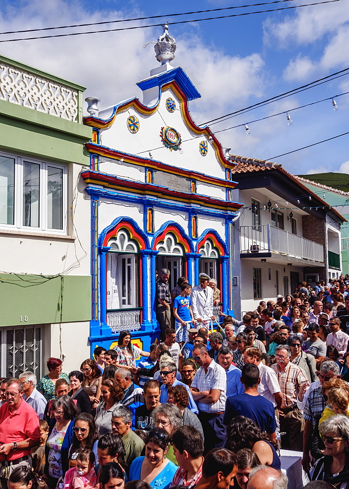 Photo of the Holy Spirit festival at Riberinha, Azores