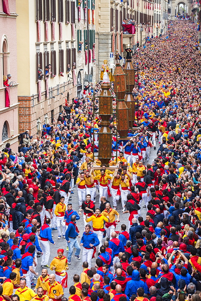 Race of Ceri festival in Gubbio, Italy, image