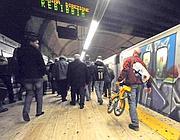 Le fasce per l'accesso delle bici saranno in metrò tre: fino alle 7, 10-16 e 20-fine servizio (foto Proto)