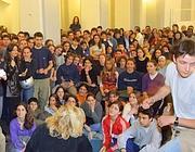 Un'assemblea al liceo Mamiani di Roma (foto Lapresse)
