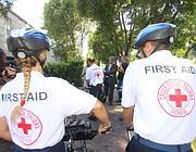 Volontari Cri in bici (foto Jpeg)