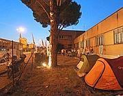 La tendopoli dei lavoratori in sciopero a Cinecittà (Jpeg)