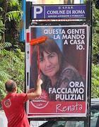 I manifesti della Polverini comparsi martedì mattina a Roma (Jpeg)